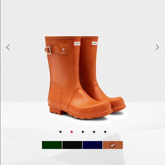 52% off Hunter Boots Other - Men's rust colored short Hunter rain ...