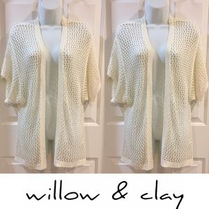 Sweaters - 🍍CLEARANCE🍍 Willow & Clay Cream Knit Cardigan
