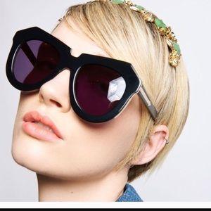 Karen Walker Accessories - Karen walker one meadow black sunglasses