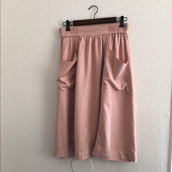 h m blush pink midi skirt from carisa s closet on poshmark