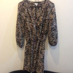 Joie Dresses & Skirts - Joie Earthy Abstract Printed Silk Boho Dress