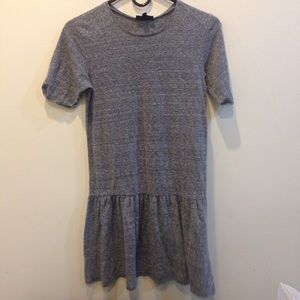 Topshop Dresses & Skirts - TOPSHOP Heather Gray Peplum Tunic Dress