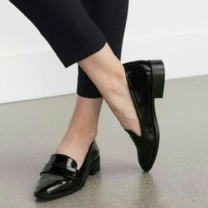 Zara Shoes - 💙Host Pick!💙 Zara Black Patent Antik Loafers
