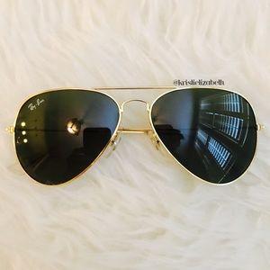 Ray Ban Style Aviators Sunglasses Gold Gray Tint