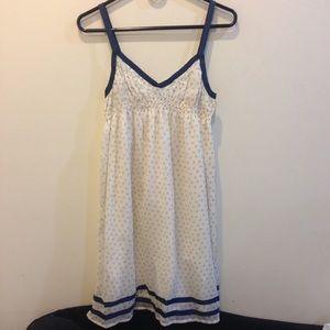 ecote Navy Cream Diamond Printed Dress