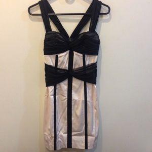 bebe Dresses & Skirts - BEBE Rose Pink & Black Bodycon Dress