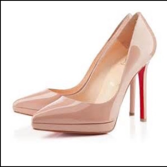 90f044ee48d Christian Louboutin Plato Pigalle Nude Pumps 38.5