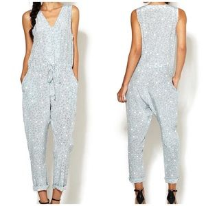 Mayla Paw Print Silk Jumpsuit