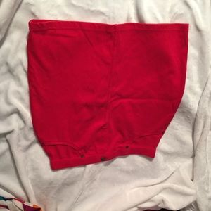 Red Pencil skirt size S/M