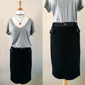 """""""D&G"""" Knit Skirt with Jean Denim Waistband"""