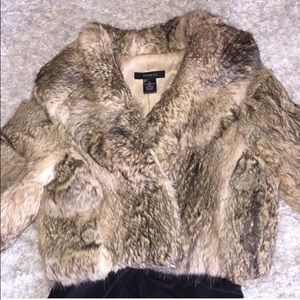 Arden B. 100% Genuine Rabbit Fur Coat