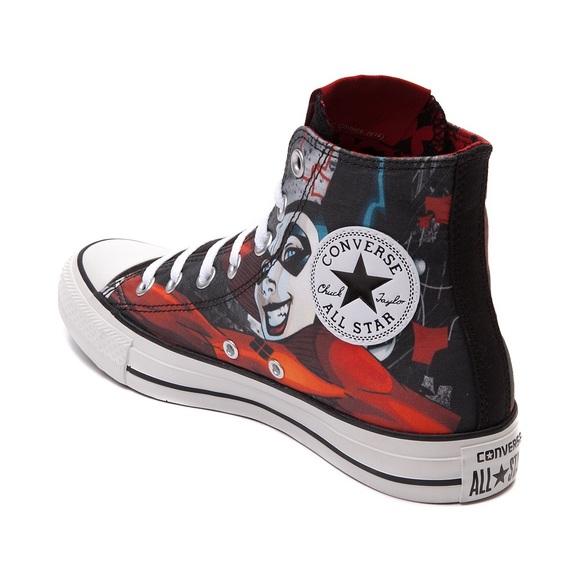 Converse Shoes - Harley Quinn High Top All Star Converse Shoes 8457d7808