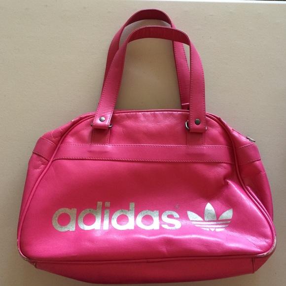 b12a0e9006 Vintage Adidas Trefoil leather purse bag pink. M 57e03fc84127d0391500ac5d