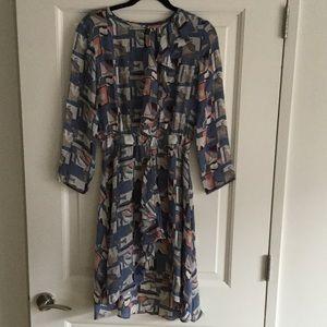 Beautiful Tucker Silk Dress