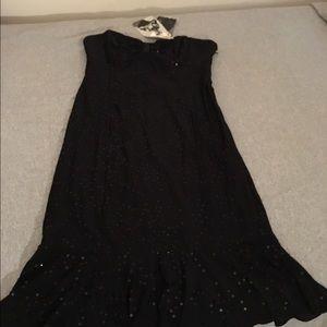 Betsey Johnson SZ L strapless sequin dress