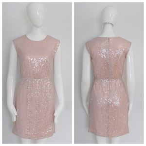 J. Crew Dresses & Skirts - NWT $199 J.Crew Pink Sequined Dress. Size 00