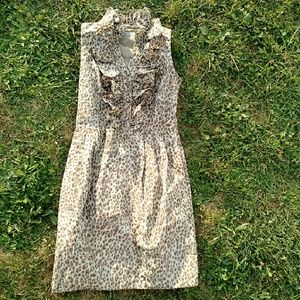 Andrew Marc Dresses & Skirts - {Marc New York} Ruffle Front Leopard Dress sz 6