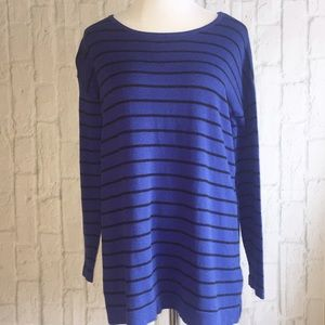 august silk Tops - Royal Blue Striped Tunic