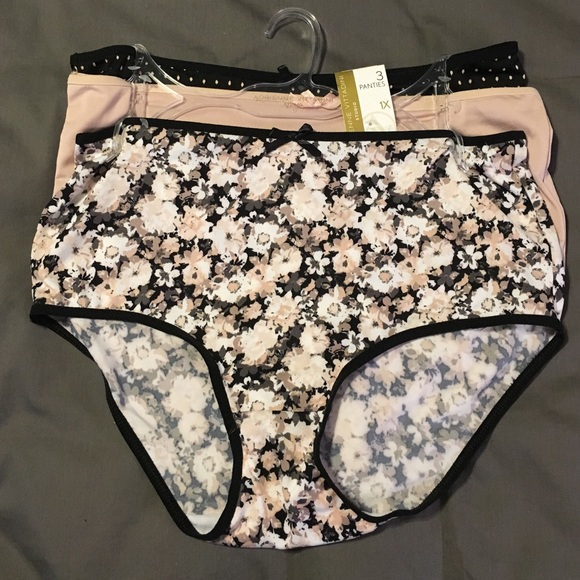 famous designer brand great deals 2017 shop for official NWT Adrienne Vittadini 3 pack panties 1X