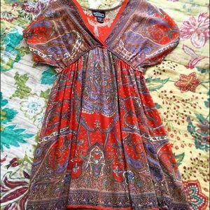 Dresses & Skirts - Orange Kimono Dress