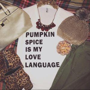 American Apparel Tops - Pumpkin Spice Shirt