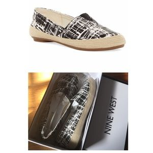 Under $59 New Black & white Gilboy flat loafers