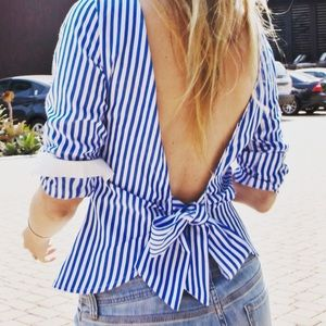 For Love and Lemons Tops - The Angels Top - blue