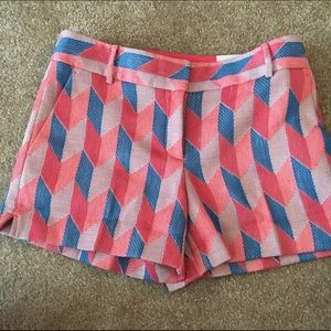 "Loft Chevron Sparkle Riviera Shorts 4"" Inseam"