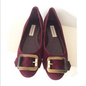Burberry Shoes - 🎉2x HP🎉 NEW Burberry suede leather flats SZ 38