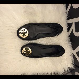 Black Tory Burch Reva Flats