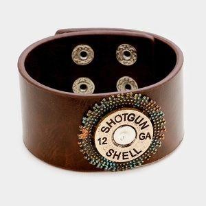 Jewelry - Shotgun Shell Leather Bracelet