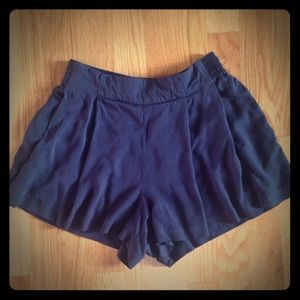 Jessica Simpson Navy Pleated Front Shorts