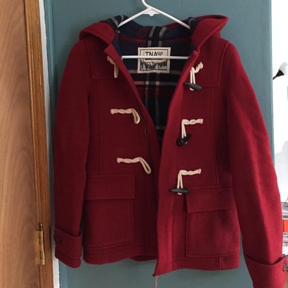 Aritzia - Aritzia TNA red duffle coat - XS from Misha's closet on ...