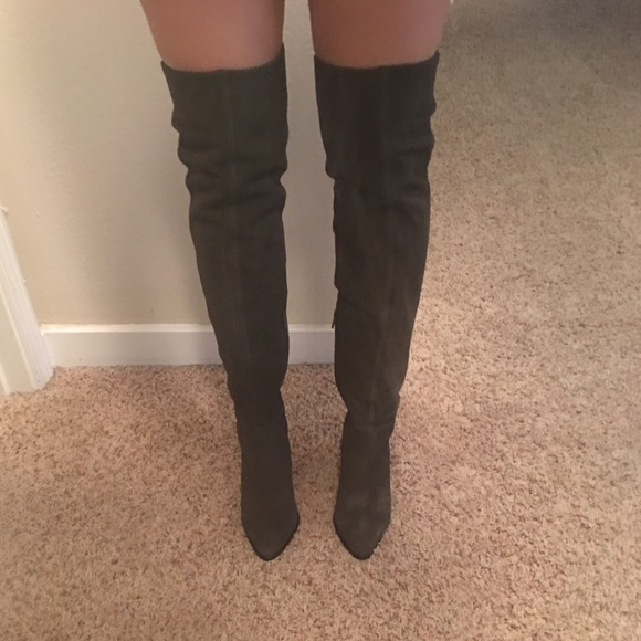 4a4f531ecfe Aldo Shoes - ALDO Eleliven over the knee boot in grey! Like new