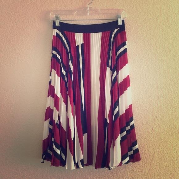 87b7da1fa Express Skirts | 1 Day Sale Pleated Midi Skirt | Poshmark
