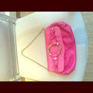 Elaine Turner Raspberry Clutch/Shoulder bag