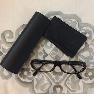 Prada Prescription Eye Glasses Brown Frames VPR15M
