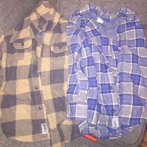 Osh Kosh Other - Oshkosh plaid button down shirts excellent cond.