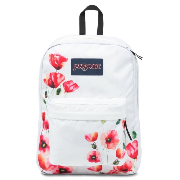 4195d2bd6b2f Jansport White Poppy Print Backpack NWT