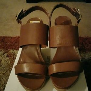 Calvin Klein Shoes - Leather Wedge Heel Sandles