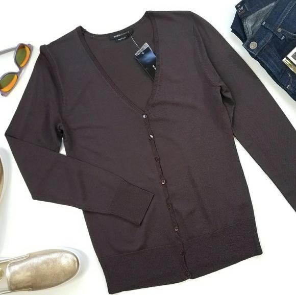 68% off BCBGMaxAzria Sweaters - BCBG MaxAzria Chocolate Brown ...