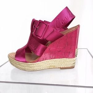 Coach pink wedge