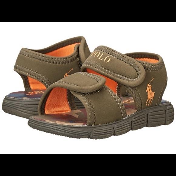 57d0ec6eb Toddler polo Ralph Lauren boys Velcro sandals