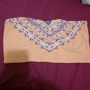 Arizona Jean Company Other - Orange Printed Bandeau Top