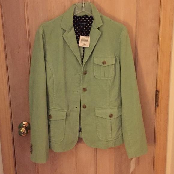68% off Lands' End Jackets & Blazers - Cute corduroy pale green ...