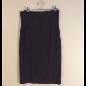 Hache Dresses & Skirts - Hache High Waist Pencil Skirt in Charcoal Gray