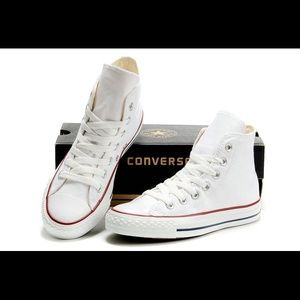 White hi top converse