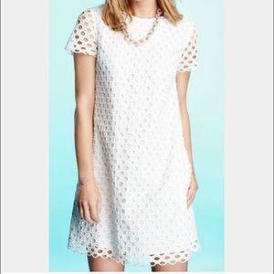 J. McLaughlin Dresses & Skirts - J. McLaughlin Eyelet Shift Dress