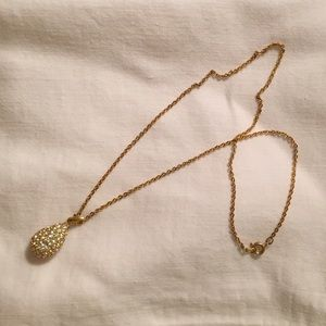 Christian Dior teardrop necklace