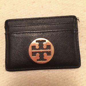 Tory burch card holder black